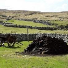 Gearrannan Blackhouse village Peat Stack